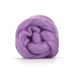 Paradise Fibers Solid Colored Merino Wool Top - Lavender