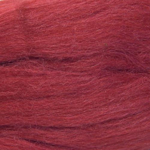 Artfelt In Silk Solid Colored Merino/Silk Standard Rovings-Fiber-2593 Cardinal-