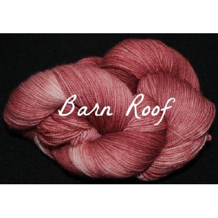 Paradise Fibers Yarn Done Roving Frolicking Feet Sock Yarn Barn Roof - 7