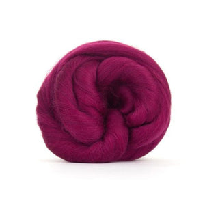 Paradise Fibers Solid Colored Merino Wool Top - Elderberry