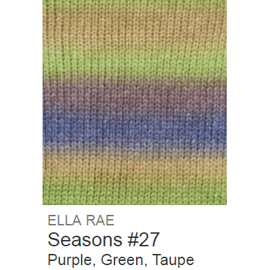 Ella Rae Seasons Yarn Purple/Green/Taupe #27 - 11
