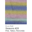 Ella Rae Seasons Yarn Pink/Yellow/Periwinkle #28 - 12