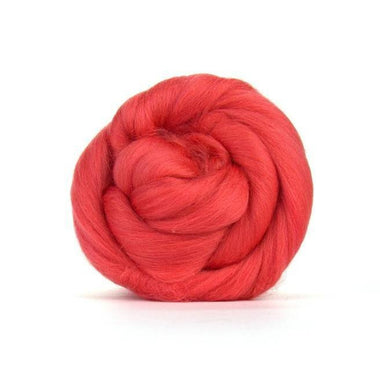 Paradise Fibers Solid Colored Merino Wool Top - Coral