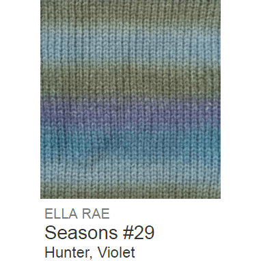 Ella Rae Seasons Yarn Hunter/Violet #29 - 13