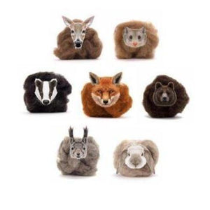 Paradise Fibers Carded Corriedale Wool Sliver - Woodland Creatures-Fiber-Badger-4oz-