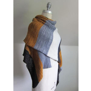 MadelineTosh Pashmina Stripes Shawl Kit-Kits-Onyx/Antler/Charcoal/Glazed Pecan-