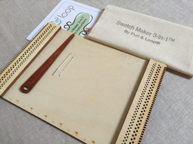 Paradise Fibers Louet Purl and Loop Swatch Maker 3-in-1 Loom - Birch