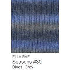 Ella Rae Seasons Yarn Blues/Grey #30 - 14