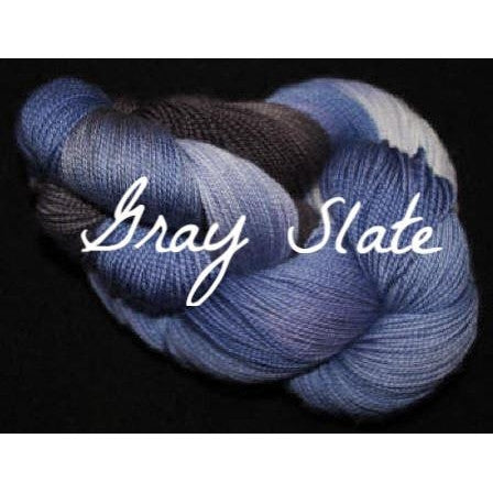 Paradise Fibers Yarn Done Roving Frolicking Feet Sock Yarn Gray Slate - 8