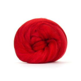 Paradise Fibers Solid Colored Merino Wool Top - Scarlet