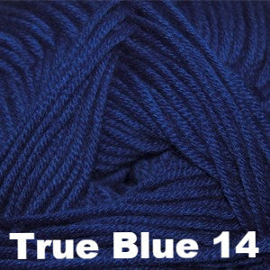Paradise Fibers Yarn Cascade Sateen Worsted Yarn True Blue 14 - 6