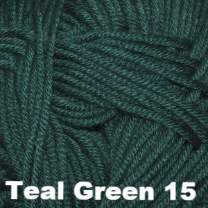Paradise Fibers Yarn Cascade Sateen Worsted Yarn Teal Green 15 - 7