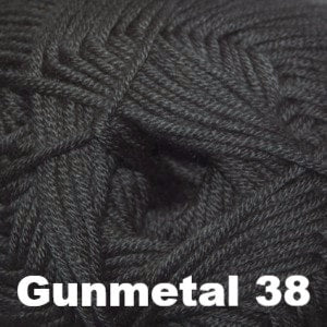 Cascade Sateen Worsted Yarn Gunmetal 38 - 17