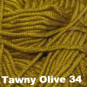 Paradise Fibers Yarn Cascade Sateen Worsted Yarn Tawny Olive 34 - 14
