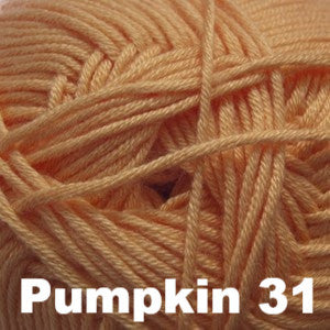 Paradise Fibers Yarn Cascade Sateen Worsted Yarn Pumpkin 31 - 12