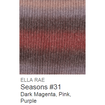 Ella Rae Seasons Yarn Dark Magenta/Pink/Purple #31 - 15