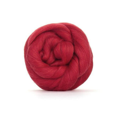 Paradise Fibers Solid Colored Merino Wool Top - Poppy