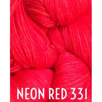 MadelineTosh Twist Light Yarn Neon Red 331 - 37