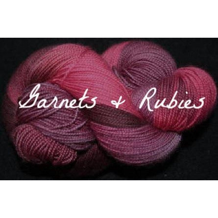 Paradise Fibers Yarn Done Roving Frolicking Feet Sock Yarn Garnets & Rubies - 10