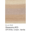 Ella Rae Seasons Yarn Off White/Cream/Vanilla #33 - 17