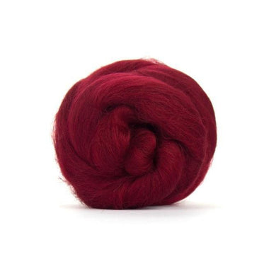 Paradise Fibers Solid Colored Merino Wool Top - Ruby