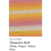 Ella Rae Seasons Yarn White/Peach/Yellow/Pink #34 - 18