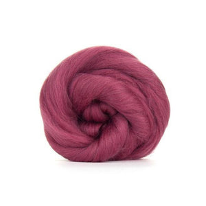 Paradise Fibers Solid Colored Merino Wool Top - Mulberry