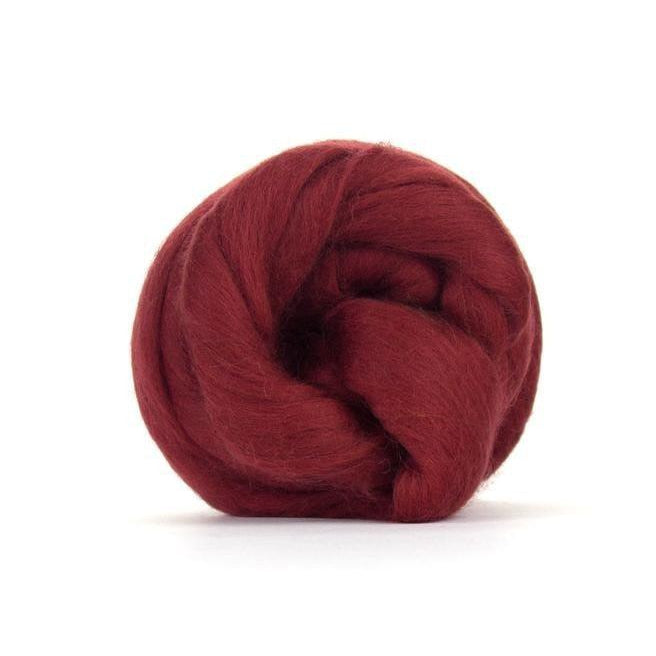 Paradise Fibers Solid Colored Merino Wool Top - Loganberry