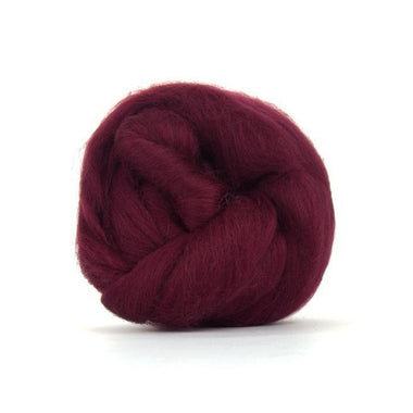 Paradise Fibers Solid Colored Merino Wool Top - Claret