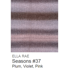 Ella Rae Seasons Yarn Plum/Violet/Pink #37 - 21