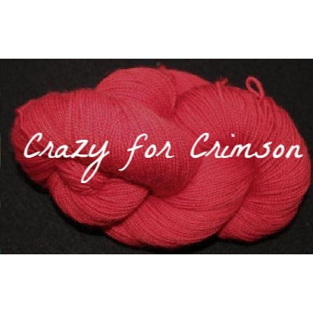 Paradise Fibers Yarn Done Roving Frolicking Feet Sock Yarn Crazy for Crimson - 11
