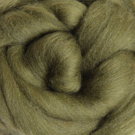 Solid Colored Corriedale Jumbo Yarn - Olive - 6.6lb (3kg) Special for Arm Knitted Blankets