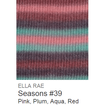 Ella Rae Seasons Yarn Pink/Plum/Aqua/Red #39 - 23