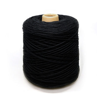 Jagger Spun Super Lamb 4/8 Worsted Weight Cone - Black-Yarn-Jagger Yarns-Paradise Fibers