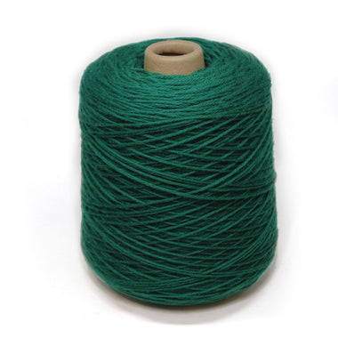 Jagger Spun Super Lamb 4/8 Worsted Weight Cone - Bottle Green