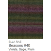 Ella Rae Seasons Yarn Violets/Sage/Plum #40 - 24