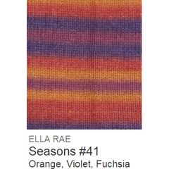 Ella Rae Seasons Yarn Orange/Violet/Fuchsia #41 - 25