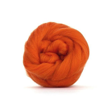 Paradise Fibers Solid Colored Merino Wool Top - Pumpkin