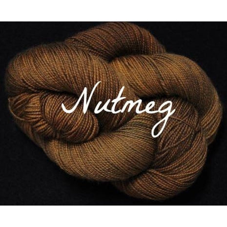 Paradise Fibers Yarn Done Roving Frolicking Feet Sock Yarn Nutmeg - 12
