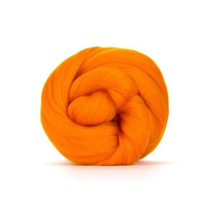 Paradise Fibers Solid Colored Merino Wool Top - Clementine-Fiber-4oz-