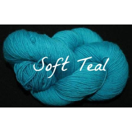Paradise Fibers Yarn Done Roving Frolicking Feet Sock Yarn Soft Teal - 13