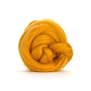 Paradise Fibers Solid Colored Merino Wool Top - Marigold