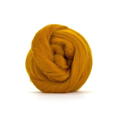 Paradise Fibers Solid Colored Merino Wool Top - Amber