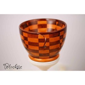 Paradise Fibers Artisan Wooden Yarn Bowls Blocksie - 3