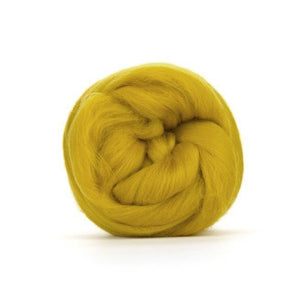 Paradise Fibers Solid Colored Merino Wool Top - Mustard