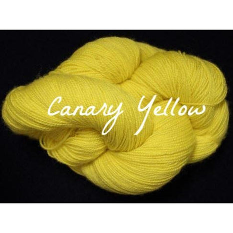 Paradise Fibers Yarn Done Roving Frolicking Feet Sock Yarn Canary Yellow - 15