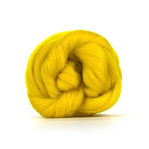Paradise Fibers Solid Colored Merino Wool Top - Buttercup-Fiber-4oz-