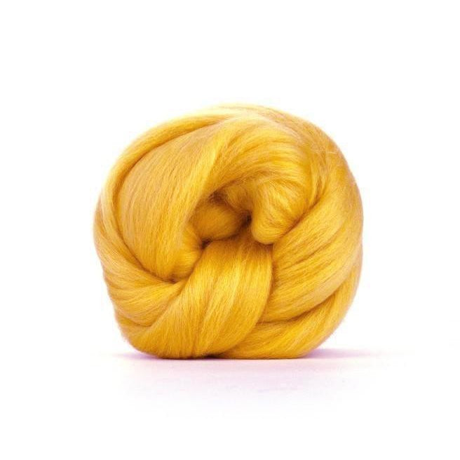Paradise Fibers Solid Colored Merino Wool Top - Corn