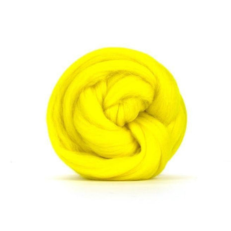 Paradise Fibers Solid Colored Merino Wool Top - Jonquil