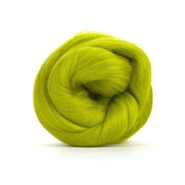 Paradise Fibers Solid Colored Merino Wool Top - Gooseberry